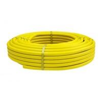 Труба гофр. из нерж.сталь терм. в жёлтой п/э обол. HFPY 20A,для газа,Lavita (30м/бухта)