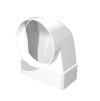 """Соединитель """"ERA"""" угловой 90° плоского воздуховода с фланцем (60х204/100) (620СК10ФП) арт 50311"""
