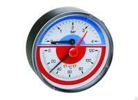 ICMA Термоманометр заднее подключение 0-10 АТМ.0-120°С