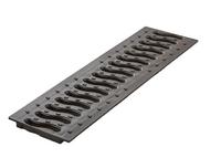 Решетка к лоткам пласт.черн. Волна 100.  0,5м (1,5т (02710214)
