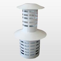 CAMINO Оголовок Ø60/100 с ветрозащитой вертикальный  конденсационный