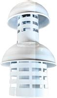 CAMINO Грибок (наконечник) 60/100 коаксиальный с ветрозащитой вертикальный
