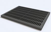 Придверная решетка пластик. черная 1,5 т 296,5 х 393 мм