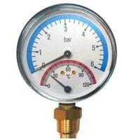 Термо-манометр вертик 10 бар/120* (d80х1/2) SMS