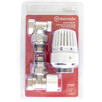 "Комплект ""THERMOFIX"" (клапан угловой + термоголовка+клапан настроечный) (1/2"")"