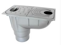Трап уличный под водосточную трубу серый(металик)  Ecoteck  нагрузка 1,5т/м.кв