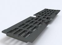 Решетка к лоткам чугунная 100.  0,5м  (DN100 - 25 тонн)