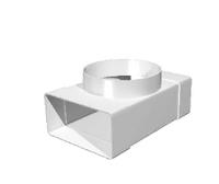 """Соединитель """"ERA"""" Т-образный с выходом на фланец D100 (55х110) (511ТФ10П) арт 50315"""