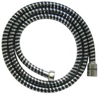 """Гибкий шланг для душа """"СТК"""" ПВХ, серебристый-черный, в блистере (150 см) (FX2903)"""