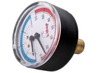 Термо-манометр гориз 10 бар/120* (d80х1/2) SMS