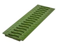 Решетка к лоткам пласт.зел.папоротник .Волна 100.  0,5м (1,5т (02710214)